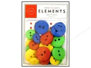 American Crafts Buttons Elements Primary