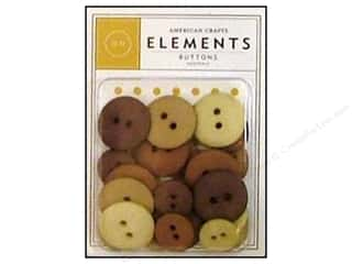 American Crafts Buttons Elements Neutrals