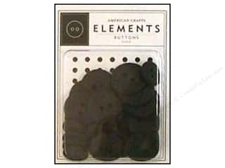 American Crafts Buttons Elements Black