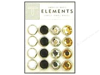 American Crafts Elements Brads Large Jewel Elegant 16pc