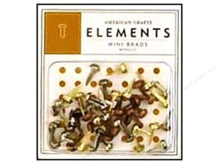 brads mini: American Crafts Elements Brads 5 mm Mini 48 pc. Metallic