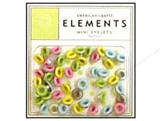 American Crafts Eyelets Elements Mini 48pc Pastels