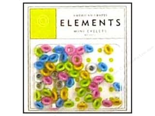 American Crafts Eyelets Elements Mini 48pc Brights