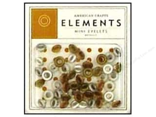 American Crafts Eyelets Elements Mini 48pc Metallc