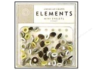 American Crafts Eyelets Elements Mini 48pc Elegant