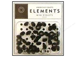 American Crafts Eyelets Elements Mini 48pc Black