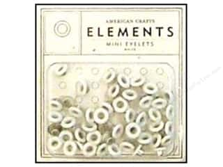 American Crafts Eyelets Elements Mini 48pc White