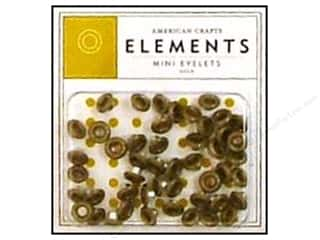 American Crafts Eyelets Elements Mini 48pc Gold