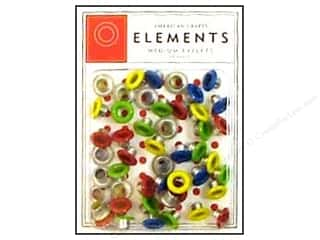 American Crafts Eyelets Elements Med 48pc Primary