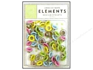 American Crafts Eyelets Elements Med 48pc Pastels