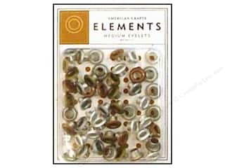 American Crafts Eyelets Elements Med 48pc Metallic