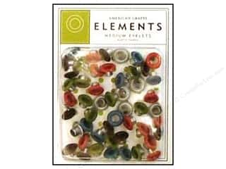 American Crafts Eyelets Elements Med 48pc Earth