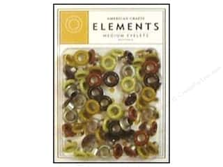 American Crafts Eyelets Elements Med 48pc Neutrals