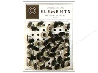 American Crafts Eyelets Elements Med Black