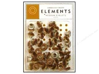 American Crafts Eyelets Elements Med 48pc Copper