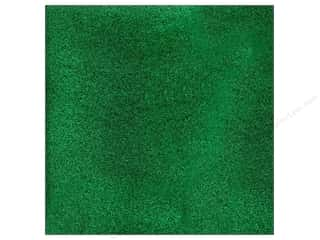 American Crafts 12 x 12 in. Cardstock Glitter Evergreen