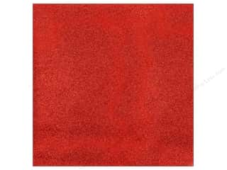 American Crafts 12 x 12 in. Cardstock Glitter Rouge