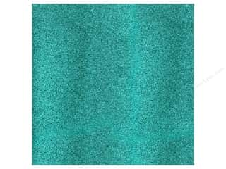 American Crafts 12 x 12 in. Cardstock Glitter Aqua (15 sheets)