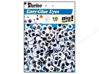 Darice Eyes Paste On Moveable 10mm Black 190pc