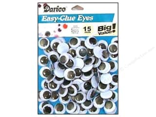 Darice Eyes Paste On Moveable 15mm Black 96pc