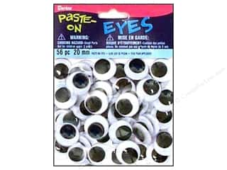 Eyes: Googly Eyes by Darice Paste-On 20 mm Black 56 pc.