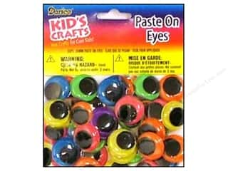 Darice Eyes Paste On Moveable 20mm Neon 50pc