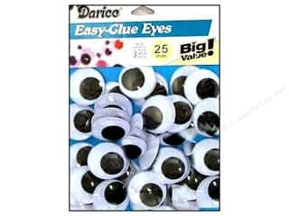 Darice Eyes Paste On Moveable 25mm Black 34pc