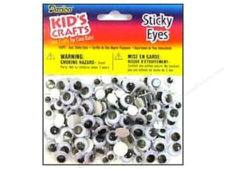eye: Darice Eyes Round Astd Black 160pc