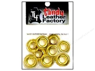 "Leather Factory Grommet 3/8"" #2 Brass 10pc"