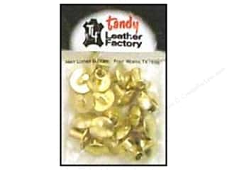 "Leather Factory Leather Factory Hardware: Leather Factory Chicago Screw Post 1/4"" Brass Solid 10pc"