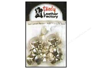 "Leatherwork: Leather Factory Chicago Screw Post 1/4"" Nickel 10pc"