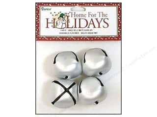 Metal Basic Components: Darice Jingle Bells 1 3/8 in. Matte Silver 4 pc.