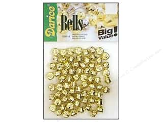 Christmas Basic Components: Darice Jingle Bells 3/8 in. Gold 72 pc.