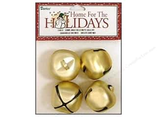 Darice Bells Jingle 35mm Matte Gold 4pc