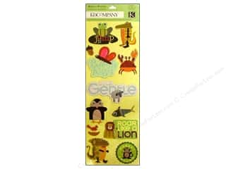 K & Company Chipboard: K&Company Adhesive Chipboard Actopus to Zelephant Icon