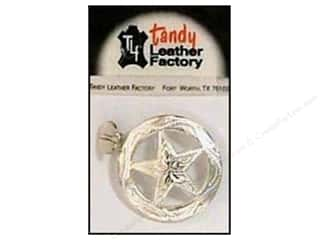 Leather Factory Concho Nkl Engrv Ranger Star 1.25&quot;