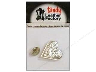 Leather Factory Concho Nkl Engraved Heart