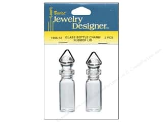 Charms and Pendants: Darice Jewelry Designer Charms 5mm Glass Bottle Rubber Stop 2pc