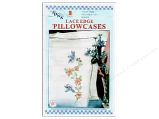Stamped Goods Flowers: Jack Dempsey Pillowcase Lace Edge White Birds
