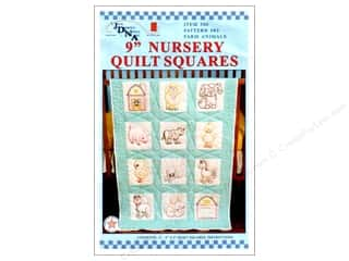 Jack Dempsey Nursery Quilt Block 12pc Farm Animals
