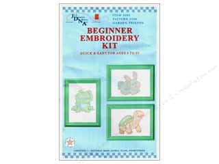 Jack Dempsey Yarn Kits: Jack Dempsey Beginner Embroidery Kit Garden Friends