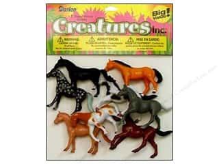 "Party Supplies Toys: Darice Kids Plastic Creatures 2"" Horses 8pc"
