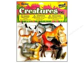 "Animals Kids Crafts: Darice Kids Plastic Creatures 2"" Farm Animals 12pc"