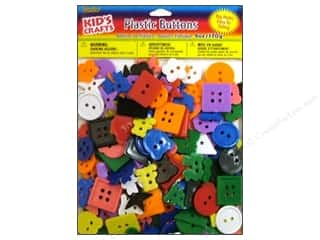 Buttons Kid Crafts: Darice Kids Plastic Kids Buttons Small Bright 6oz