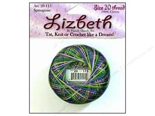 Clearance Aunt Lydia's Fashion Crochet Thread Metallics Size 5: Lizbeth Thread Size 20  #115 Springtime