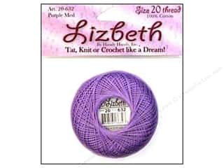 cord yarn accessory: Lizbeth Thread Size 20  #632 Purple Medium