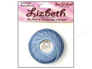 HHD Lizbeth Tat Thread Size 20 Denim Blue Light