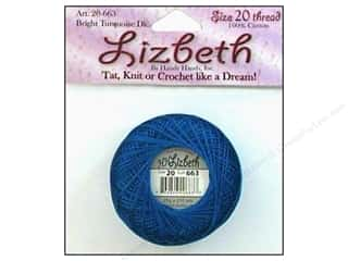 cord yarn accessory: Lizbeth Thread Size 20  #663 Bright Turquoise Dark