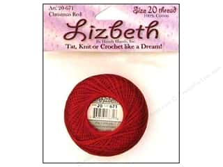 Handy Hands $6 - $18: Lizbeth Thread Size 20  #671 Christmas Red