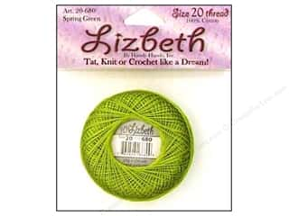 Clearance Aunt Lydia's Fashion Crochet Thread Metallics Size 5: Lizbeth Thread Size 20  #680 Spring Green